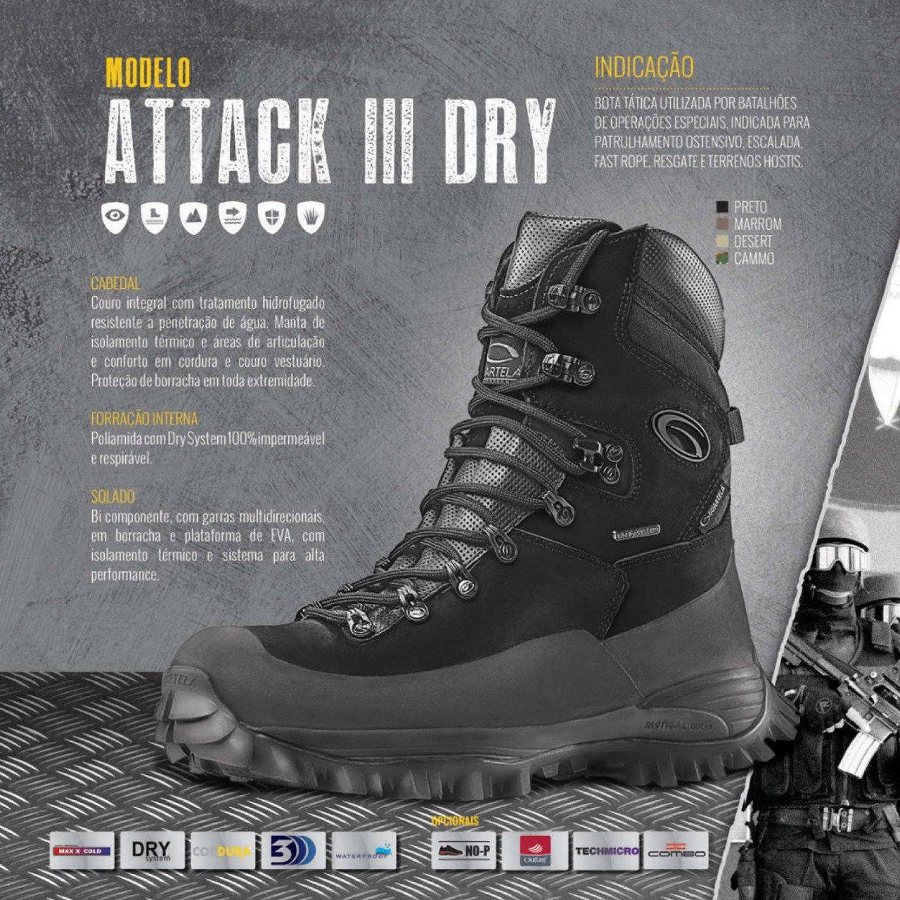 76d959b9e6b9e BOTA TÁTICA GUARTELA ATTACK III DRY